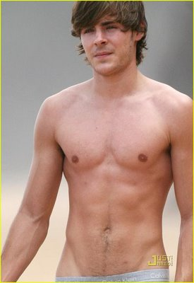 zac efron on the beach